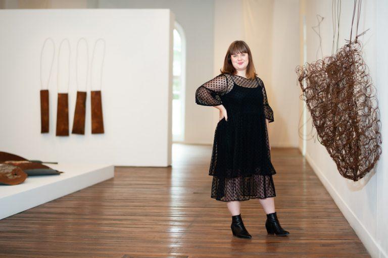 Curator Emily McDaniel at the National Art School, Darlinghurst